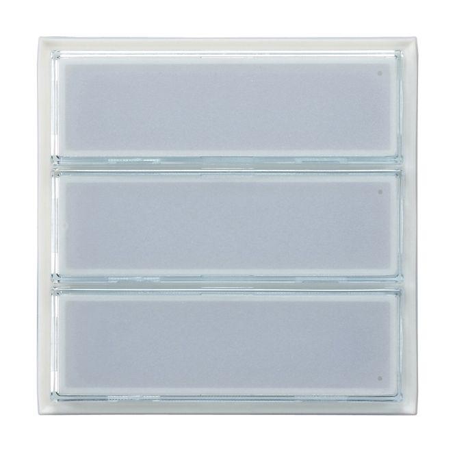 GIRA 126300 TX_44 Ruftaster 3fach für Türstation wassergeschützt Unterputz Weiße