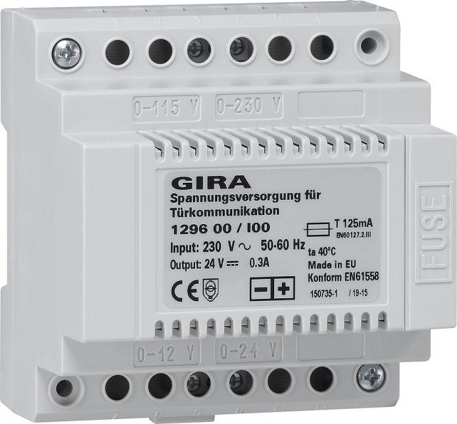 GIRA 129600 Spannungsversorgung für Türkommunikation DC 24 V 300 mA