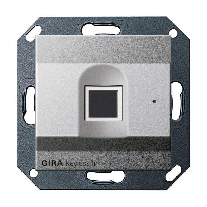 gira 261726 keyless in fingerprint leseeinheit farbe alu. Black Bedroom Furniture Sets. Home Design Ideas