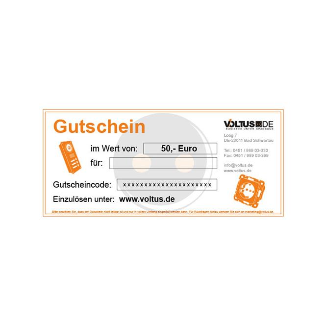 VOLTUS GESCHENKGUTSCHEIN 50 €