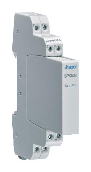HAGER SPK502 Überspannungsableiter für Bussysteme und Videoübertragung