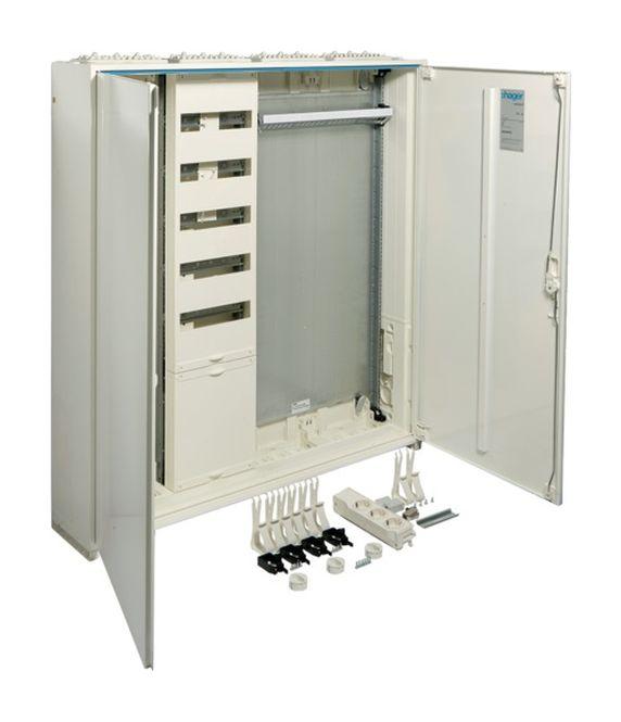 HAGER ZB34APZ2 Systemschrank universZ IP44 SKII Höhe=1100mm Breite: 1050mm, 4-feldig