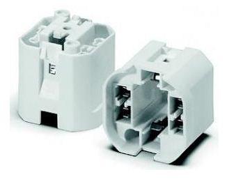 HOUBEN 527739 Fassung mit Glattmantel Sockel G24q-1/GX24q-1 10,13W
