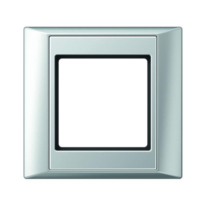 JUNG AP 581 AL Rahmen aluminium 1-fach