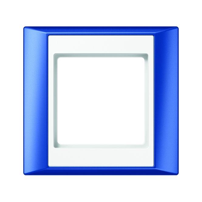 JUNG AP 581 BL WW Rahmen blau-alpinweiß 1-fach