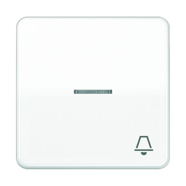 JUNG CD590KO5KWW Wippe mit Symbol -Klingel- Alpinweiss