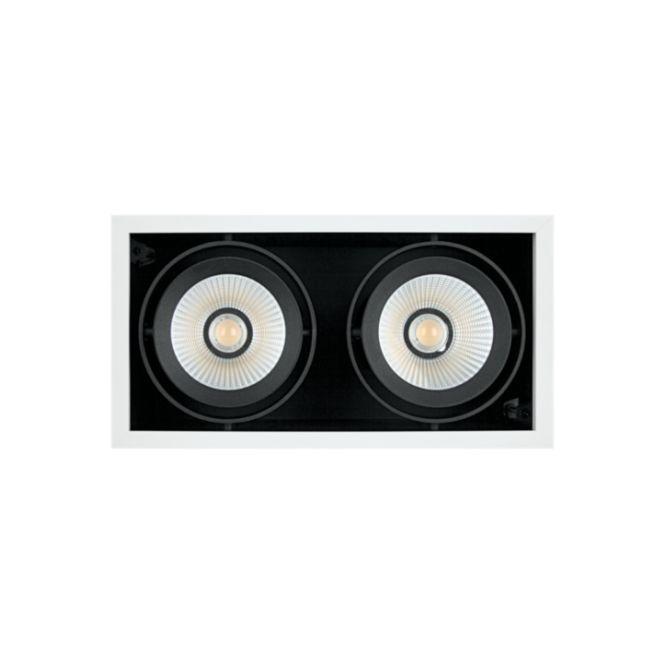 LEDVANCE SP MULTI 2X30W/3000K FL WT/BK Spot Multi UGR<16 5400lm 38° IP20 3000K warmweiß