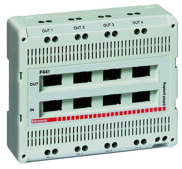 legrand BTicino-F441 Reiheneinbau Audio-Video Mixer mit 4 Eingängen und