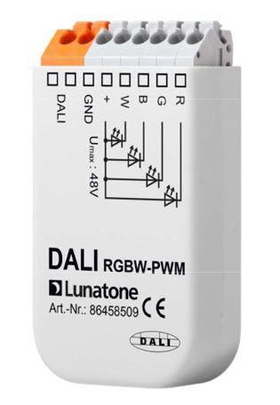 LUNATONE 86458509 DALI RGBW-PWM LED Dimmer 12V bis 24V DC 8A