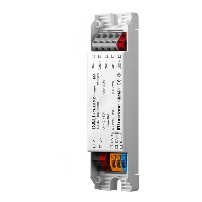 LUNATONE 86459560 DALI DT6 4-Kanal LED Dimmer CV 12-48VDC 10 A