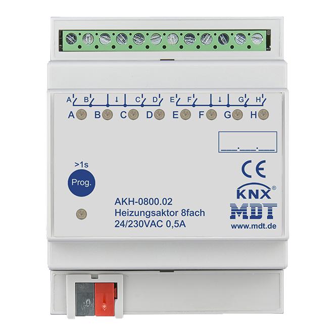 MDT AKH-0800.02 Heizungsaktor 4TE REG 24-230VAC 8-fach