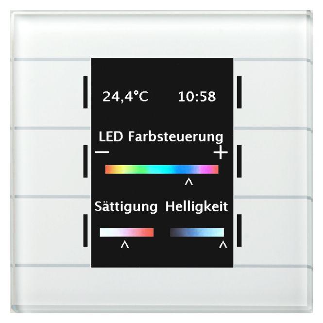 MDT BE-GT20W.01 Glastaster II Smart mit 6 Sensorflächen Weiß