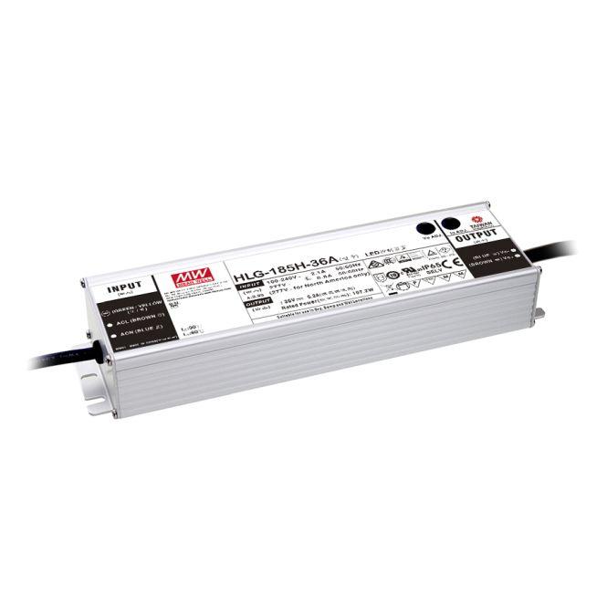 MEANWELL HLG-185H-24A LED-Schaltnetzteil IP65 187W 24V/7,8A