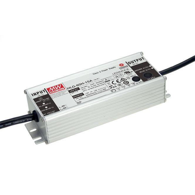 MEANWELL HLG-60H-24A LED-Schaltnetzteil IP65 60W 24V/2,5A