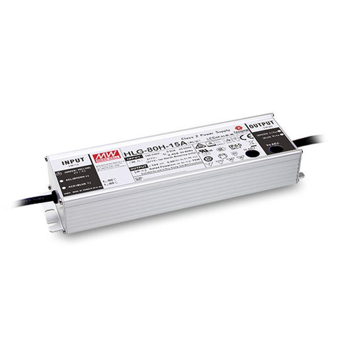 MEANWELL HLG-80H-24A LED-Schaltnetzteil IP65 81,6W 24V/3,4A