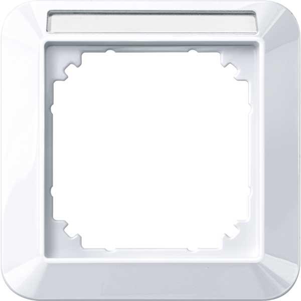 MERTEN 387125 1-M-Rahmen mit Beschriftungsträger 1-fach