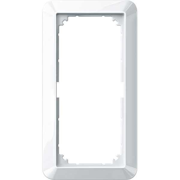 MERTEN 389819 1-M-Rahmen, 2fach ohne Mittelsteg polarweiß glänzend