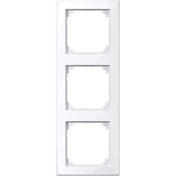 merten 478325 m smart rahmen 3fach aktivweiss gl nzend. Black Bedroom Furniture Sets. Home Design Ideas