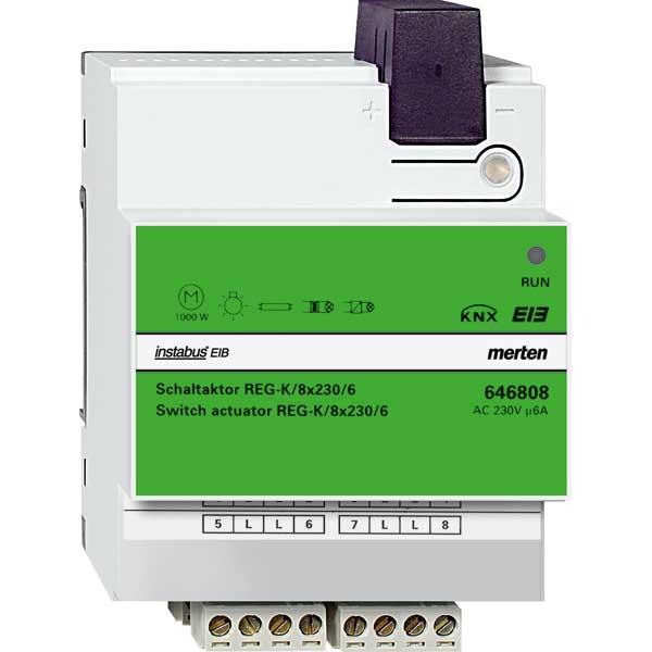 MERTEN 646808 Schaltaktor REG-K/8x230/6
