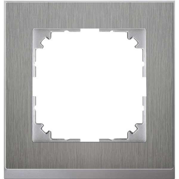merten meg4010 3646 m pure decor rahmen edelstahl. Black Bedroom Furniture Sets. Home Design Ideas