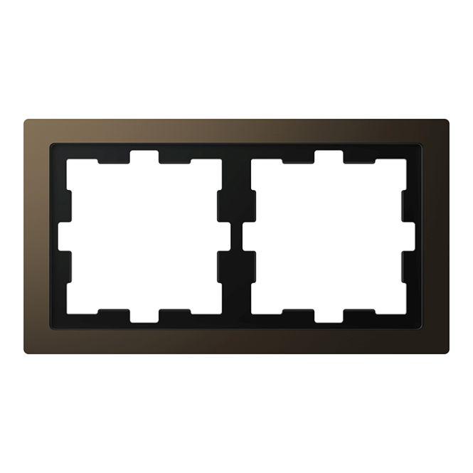 merten meg4020 6552 d life metall rahmen moccametallic 2. Black Bedroom Furniture Sets. Home Design Ideas
