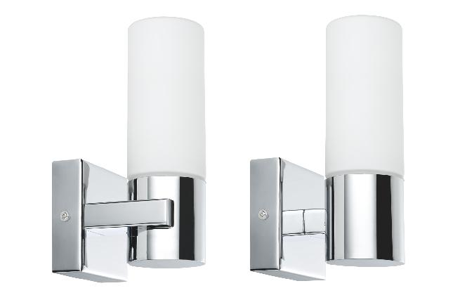 Paulmann wandleuchten gemini ip44 40 w 2er pack chrom satin metall glas online kaufen im - Badezimmer wandleuchten ...