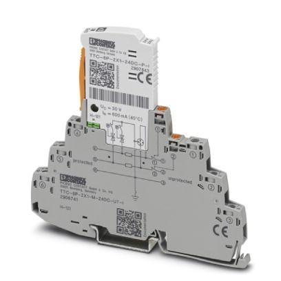 PHOENIX 2906741 TTC-6P-2X1-M-24DC-UT-I Überspannungsschutzgerät 24 V DC