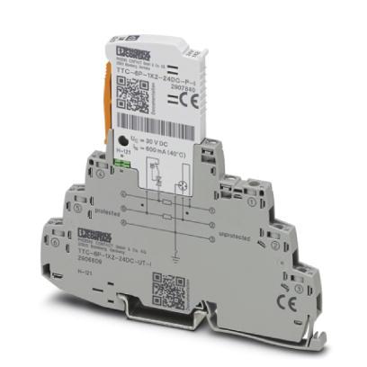 PHOENIX 2906809 TTC-6P-1X2-24DC-UT-I Überspannungsschutz 2-Leiter