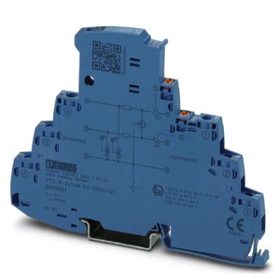 PHOENIX 2906821 TTC-6-2X1-M-EX-24DC-UT-I Überspannungsschutz 24 V DC 2-Leiter