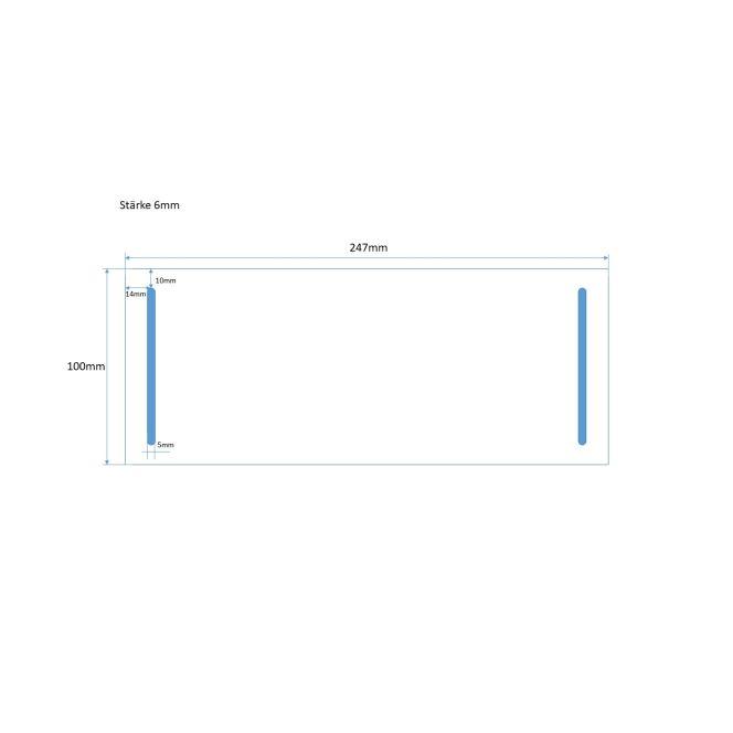 Hart-PVC Montageplatte für Hager Feldverteiler, schwer entflammbar