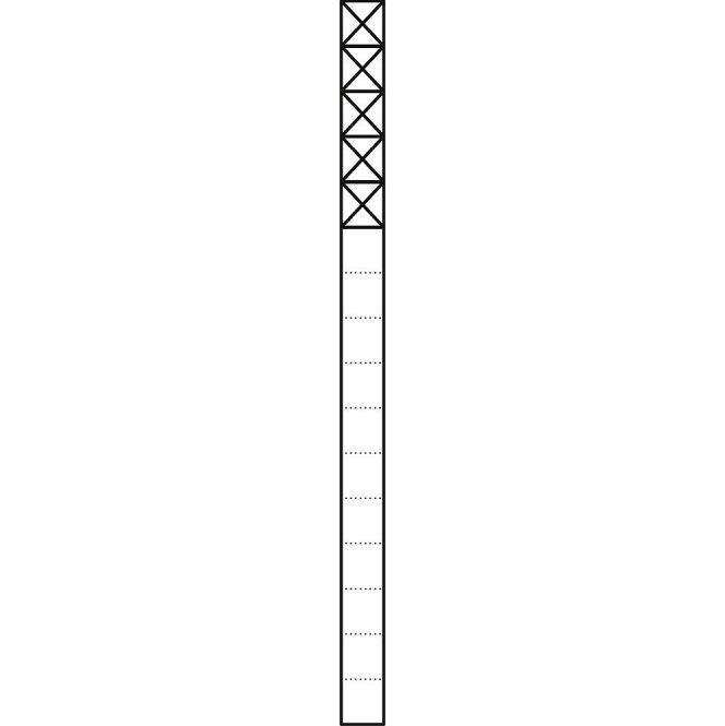 SIEDLE KS 616-5 W Kommunikations-Stelen mit 1,6 m Länge
