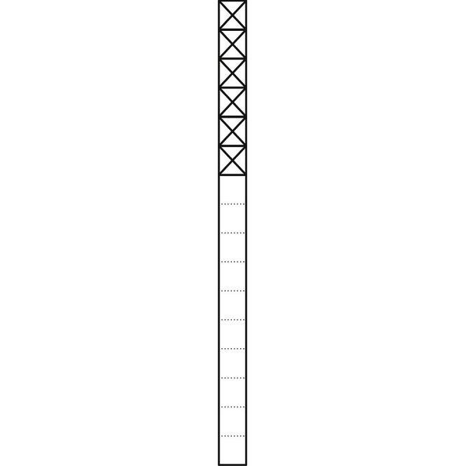 SIEDLE KS 616-6 SM Kommunikations-Stelen mit 1,6 m Länge