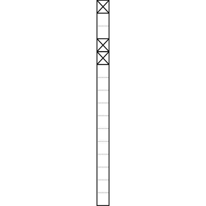 SIEDLE KS 616-1/2 W Kommunikations-Stelen mit 1,6 m Länge