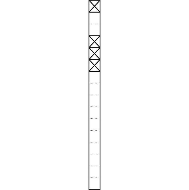 SIEDLE KS 616-1/3 W Kommunikations-Stelen mit 1,6 m Länge