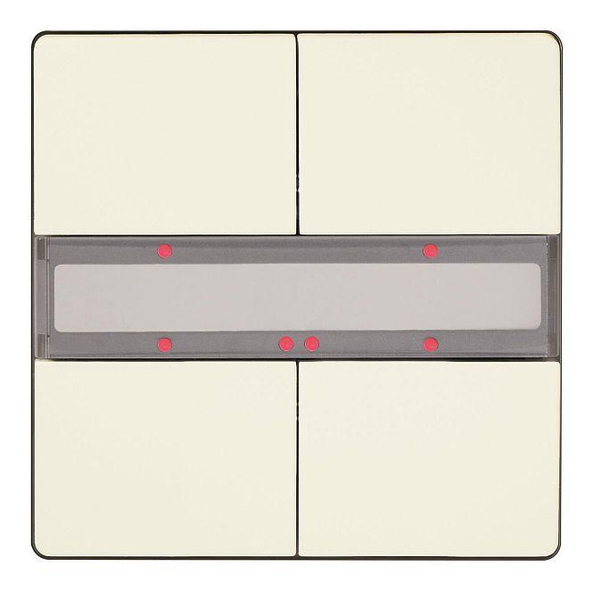 SIEMENS 5WG1286-2DB13 UP 286/13 Taster mit Status-LED titanweiß 2-fach
