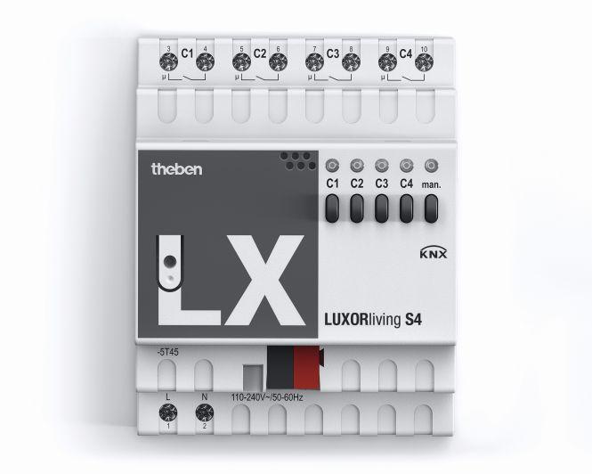 THEBEN 4800420 LUXORliving S4 Schaltaktor 4-fach