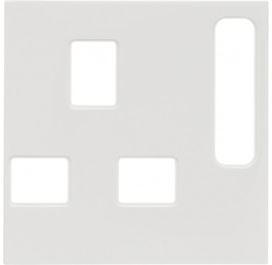 berker 3313078989 zentralst ck f r steckdosen polarwei gl nzend online kaufen im voltus elektro. Black Bedroom Furniture Sets. Home Design Ideas