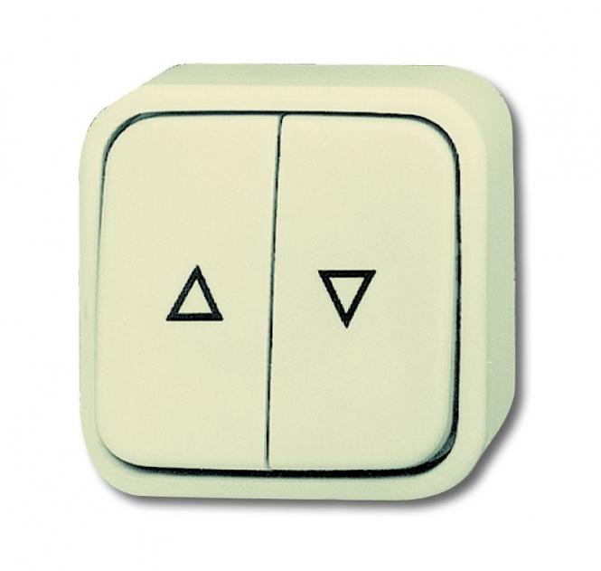 busch jaeger 2621 4 ap jalousietaster taster 1 polig wipptaster online kaufen im voltus. Black Bedroom Furniture Sets. Home Design Ideas