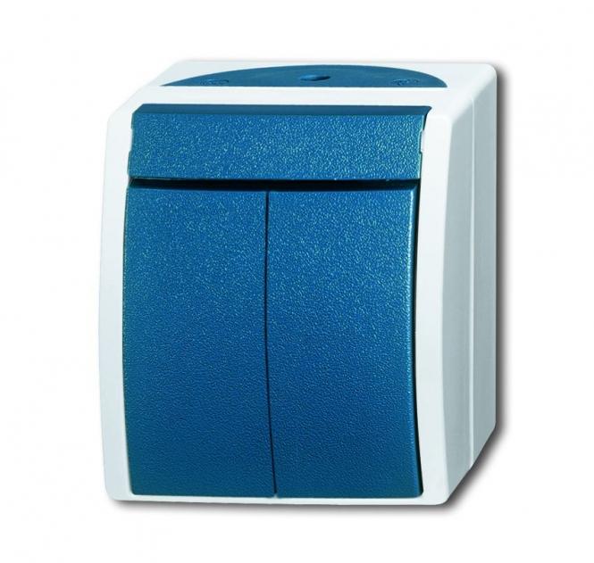 busch jaeger 2601 5 w 53 wippschalter serienschaltung grau blaugr n online kaufen im voltus. Black Bedroom Furniture Sets. Home Design Ideas