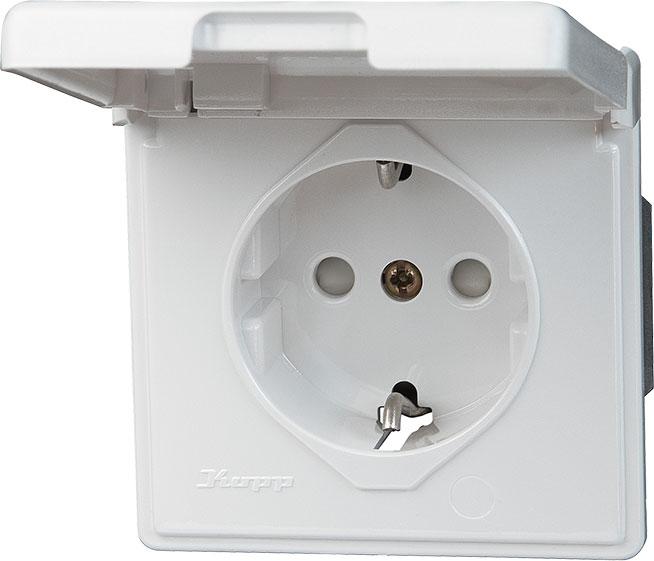 kopp 119102080 schutzkontakt steckdose mit deckel up. Black Bedroom Furniture Sets. Home Design Ideas