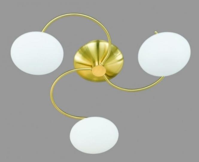 lichtideen l35125 deckenleuchte messing matt glas opal online kaufen im voltus elektro shop. Black Bedroom Furniture Sets. Home Design Ideas