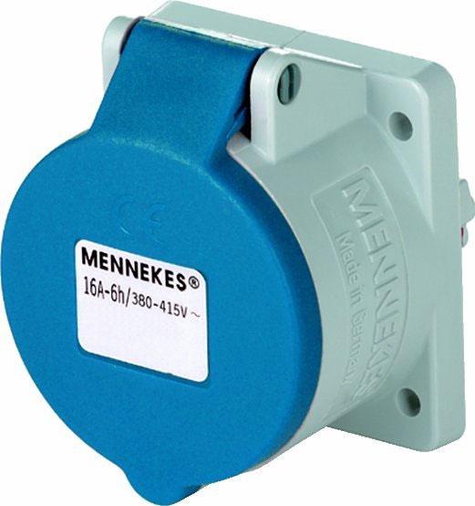 MENNEKES 1668 16A3P 6H230V Anbaudose TwinCONTACT IP44