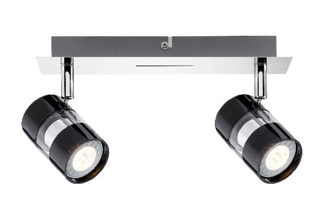 paulmann strahler led nevo 2 x 3 5w gu10 230v schwarz chrom online kaufen im voltus. Black Bedroom Furniture Sets. Home Design Ideas