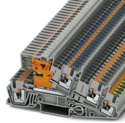 PHOENIX 3213946 PTI 2,5-PE/L/NT Dreistock Installationsklemmen PE/L/NT