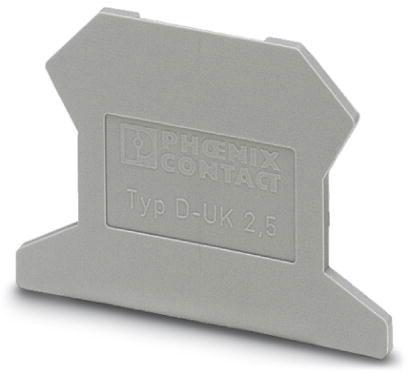 PHOENIX 3001022 D-UK 2,5 Abschlussdeckel grau Grau