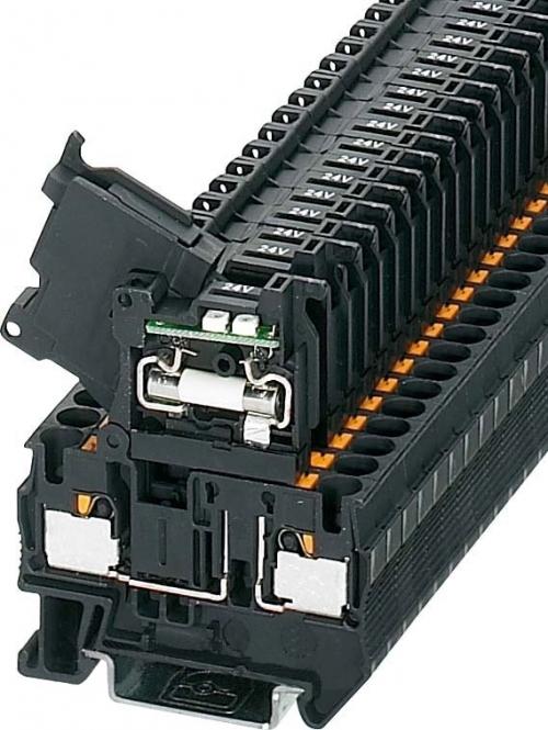 PHOENIX 3211903 PT 4-HESILED 24 (5x20) Sicherungsreihenklemme schwarz