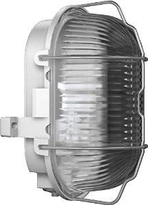 RZB 50500.009.1 Kunststoff-Ovalleuchten, grau, stoßfest