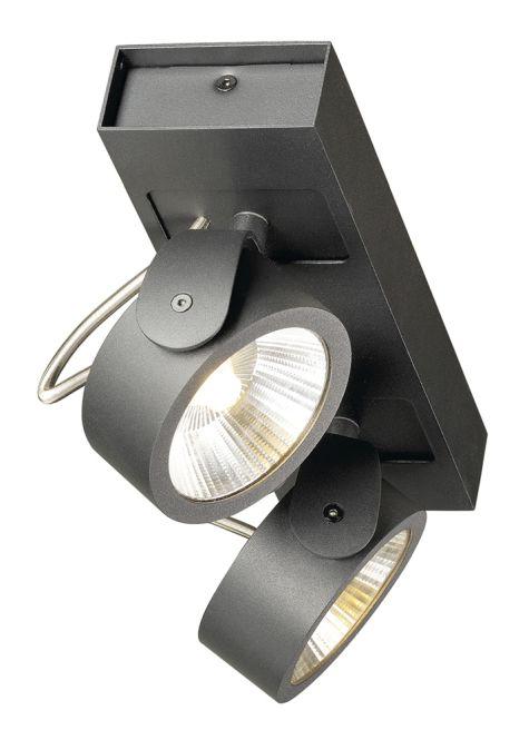 slv 1000129 kalu led wand und decken leuchte 34w 3000k 2000lm 60 zweiflammig schwarz online. Black Bedroom Furniture Sets. Home Design Ideas
