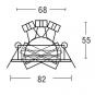 BRUMBERG 0063.07 NV-Einbaustrahler rund Weiß matt