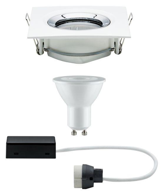 paulmann einbauleuchte led nova 7w gu10 2700k ip65 schwenkbar wei chrom online kaufen im. Black Bedroom Furniture Sets. Home Design Ideas